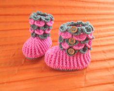 вязание крючком крокодиловая baby boot,крючком детская обувь,девочка ,мальчик, вязание крючком пинетки,Размер 0-3, 3-6 месяцев,6-12 месяцев, новорожденного пинетки