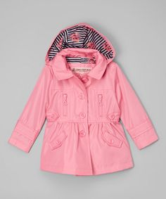Loving this Urban Republic Pink Lemonade Hooded Rain Coat - Infant, Toddler & Girls on #zulily! #zulilyfinds