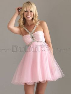 Free Shipping Homecoming/Cocktail Dresses A-line Satin Straps Empire Zipper Short/Mini Beading, Homecoming Dresses, Cocktail Dresses