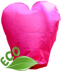 Eco Wire-free Heart Pink Chinese Flying Sky (Floating) Lantern