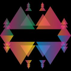 Abstract Colorful Triangle is a T Shirt designed by meisuseno to illustrate your life and is available at Design By Humans