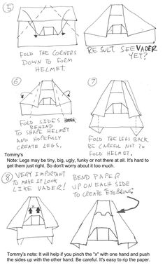 origami instructions for darth paper - Google Search