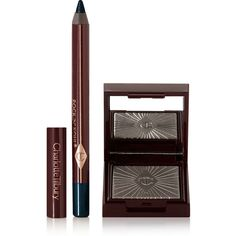 Charlotte Tilbury Nocturnal Cat Eyes to Hypnotise - Silver Leopard ($44) ❤ liked on Polyvore featuring beauty products, makeup, eye makeup, beauty, silver, black makeup, kohl makeup, black eye makeup, silver makeup and leopard print makeup