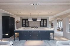 Everyone Else Does When It Comes to Open Plan Kitchen-diner with Blue Island and Cabinetry and What You Need to Be Doing Different - isoaku Living Room Kitchen, Home Decor Kitchen, Kitchen Interior, New Kitchen, Home Kitchens, Awesome Kitchen, Kitchen Pantry, Kitchen Ideas, Open Plan Kitchen Dining Living