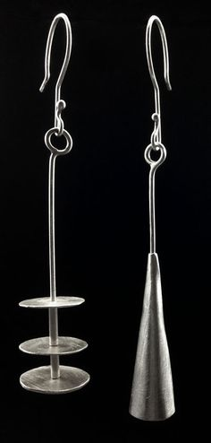 RUPTURE OF COMPLEMENT, sterling silver earringsby #POLAOSLO Design at www.polaoslodesign.com