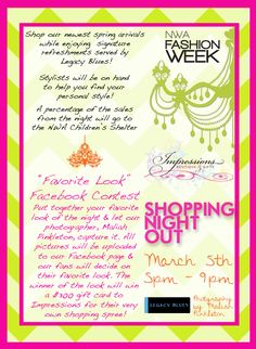 Impressions Boutique Shopping Night Out Flyer March 5th, 5pm-9pm