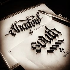 Wow, wow, wow! Some gorgeous 3d calligraphy from Turkish graphic designer Tolga Girgin - https://www.behance.net/gallery/18363347/Some-Shaded-Lettering-with-Parallelpen-Pencil-Part-1
