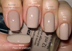 Neutral Nail Polish, Essie Nail Colors, Nail Polish Colors, Cute Pink Nails, Pretty Nails, Shellac Nails, Nude Nails, Uñas Fashion, Pearl Nails