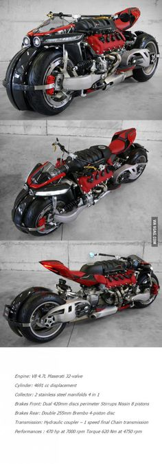 Lazareth Quad Motorcycle Powered By Maserati Engine Jeep 4x4, Maserati, Best Funny Pictures, Cars And Motorcycles, Motorbikes, Quad, Super Cars, Cool Designs, Engineering