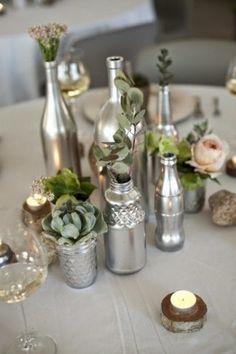 Virlova Style: [Details] Reutilizamos tarros y botellas de cristal para decorar