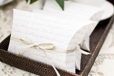 Love note favor boxes   Easy DIY Tricks to Spice Up Your Wedding