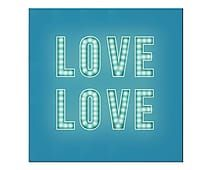 Placa Decorativa Shine Love - 41X41cm
