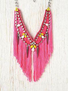 pink fringe bib from #freepeople