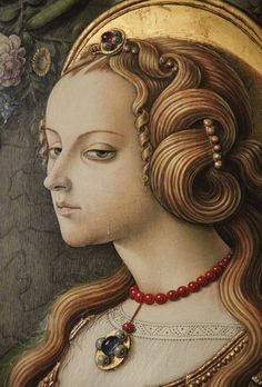 With Carlo Crivelli, the so-called 'International Gothic' style experienced its final flowering in Italy.  This perfectly preserved panel was painted towards the end of his career.