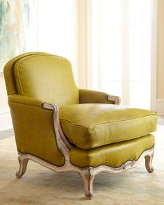 Green Leather Chair by Old Hickory Tannery at Horchow.