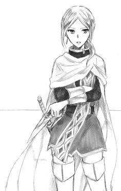 Kiki Seiran | black and white sketch | Akagami no Shirayuki Hime | Snow White with the Red Hair | 赤髪の白雪姫