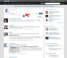 New updates from your Network - LinkedIn New design 2012