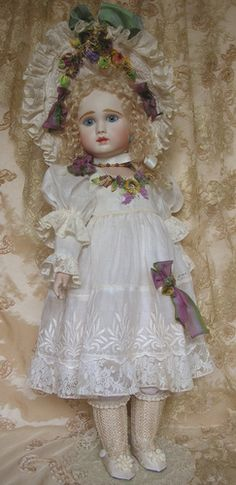 Mary Lambeth Costume - doll by Emily Hart Victorian Dolls, Antique Dolls, Vintage Dolls, Scary Baby Costume, Baby Costumes, China Dolls, Doll Quilt, Doll Costume, Old Dolls