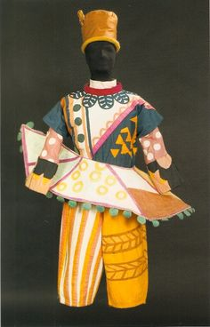 Mikhail Larionov, The Ballets Russes,  costume for a buffoon