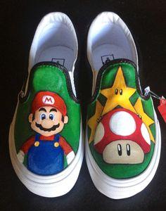Super Mario custom vans