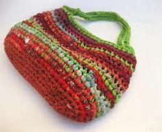 Fabric and Plarn Crocheted Rag