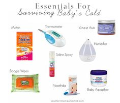 Essentials for Surviving Baby's Cold! Must have items for when your little one gets the common cold!