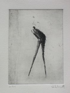 Original Etching Whisper by valdas on Etsy