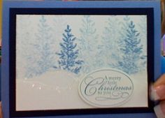 Blue Trees Christmas Card
