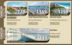 Cancun Vacation Specials with Air from New York