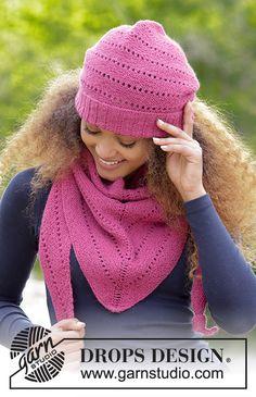 Very Berry / DROPS 182-1 - Gratis strikkeopskrifter fra DROPS Design Drops Design, Knitting Patterns Free, Free Knitting, Knitted Hats, Crochet Hats, Berry, Garter Stitch, Inspiration, Fashion