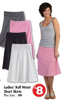 Roll Waist Skirts {source: Family Dollar}