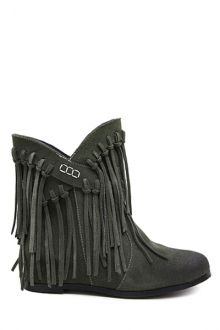Tassel Solid Color Cross Straps Ankle Boots
