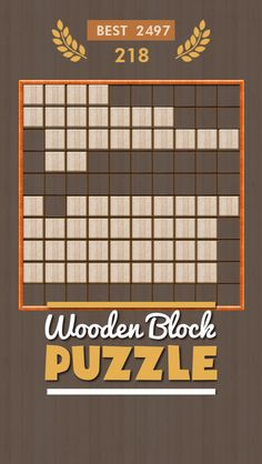 It's really Amazing! I have just got 2497 score in Wooden Puzzle Can you beat my score #wooden #puzzle #tetris #HD #Free! -> http://itunes.apple.com/WebObjects/MZStore.woa/wa/viewContentsUserReviews?id=1078160821&pageNumber=0&sortOrdering=2&type=Purple+Software&mt=8