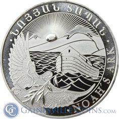 2013 1 oz Silver Armenia Noah's Ark Coin - 500 Drams http://www.gainesvillecoins.com/