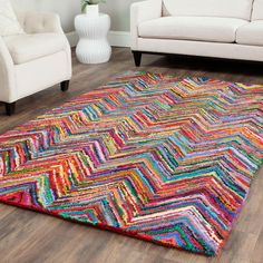 Rainbow Riot Rug - Unique Modern Furniture - Dot & Bo