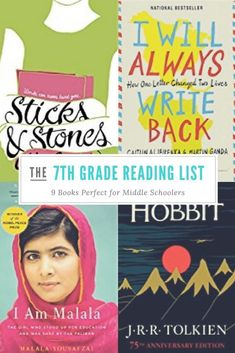 This grade reading list is perfect for middle school students. This book lis… This grade reading list is perfect for middle school students. This book list was perfect for my homeschool girl. 7th Grade Reading List, Reading Lists, Book Lists, 7th Grade Ela, 7th Grade Writing, 7th Grade Classroom, Reading Goals, Ninth Grade, Seventh Grade