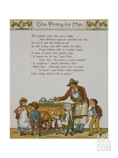 The Penny Ice-man. a Seller Of Iced Fruit Confectionery. Illustration From London Town' Giclee Print by Thomas Crane at Art.com