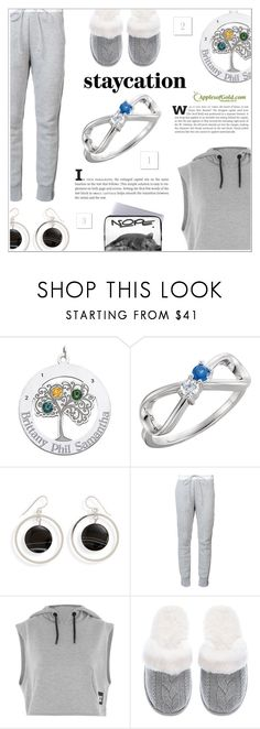 """""""Rest Up: Staycation"""" by applesofgoldjewelry ❤ liked on Polyvore featuring Sacai, Topshop, Apples of Gold and Victoria's Secret"""