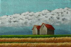 Small landscape painting, Fields and barn, Countryside, Prairie & cloud, Impressionist Art, Small original art, Acrylic on canvas, 4x6 inch Etsy Handmade, Handmade Gifts, Crow Painting, Acrylic Paint On Wood, Etsy Shop Names, Impressionist Art, Affordable Art, Art Online, Landscape Paintings