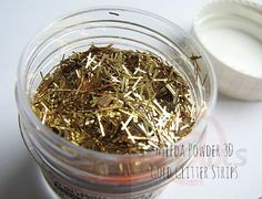 13@rts 3D Ayeeda Powders - Glitter - Gold Glitter Strips – TupeloDesignsLLC