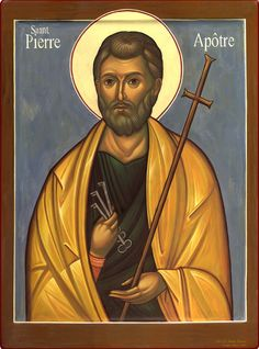 Peter by Jacques Bihin Religious Images, Religious Icons, Religious Art, Roman Church, Byzantine Icons, Divine Light, Orthodox Icons, Artist Trading Cards, Saints