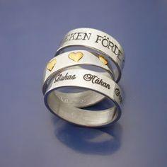 #Engagementrings & #weddingrings #personalized style.  #Förlovningsringar & #vigselringar #personligt designade och handsmidda med #kärlek