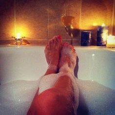 It might not be quite the same, but a bubble bath cures all!