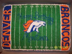bronco cake | Denver Broncos Birthday Cake — Football / NFL