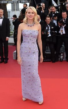 Luxe Red Carpet   Cannes Film Festival 2016   Naomi Watts in Giorgio Armani lilac gown   The Luxe Lookbook