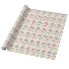 Any Occasion Pink Plaid Paper - wrapping paper custom diy cyo personalize unique present gift idea