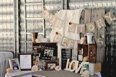 Our Story Begins Custom burlap wedding banner by IStillDream, $20.00