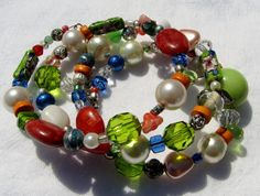 Bohemian Wrap Bracelet - Vintage and Recycled Jewelry Beads 2 on Etsy, $18.00