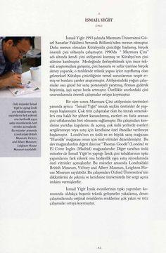 """İSMAİL YİĞİT, """" İstanbul'un 100 Çini ve Seramik Sanatçısı"""", 2010 (Erdinç Bakla archive)"""