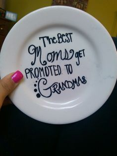 Sharpie on plate<3 bake for 30minutes at 300 to become permanent. Great gift idea